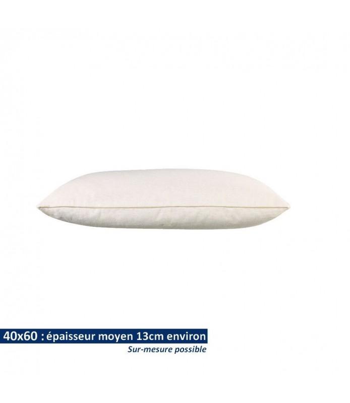 Oreillers 40x60 en coton bio