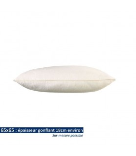 Oreillers 65x65 en coton bio