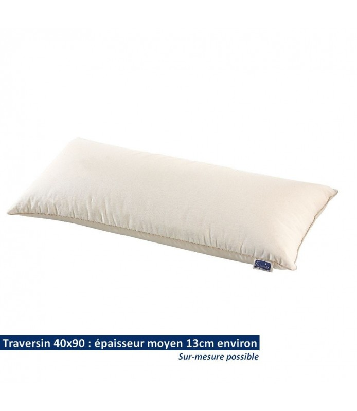 Traversin rectangulaire 40x90 en coton bio