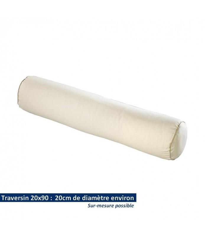 Traversin rond 20x90 en coton bio