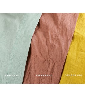 Drap plat coton chanvre 3 couleurs