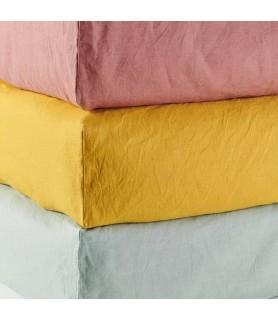 Drap housse coton chanvre