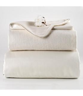 Drap housse bébé coton écru naturel