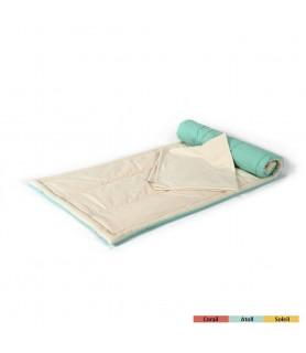 Tapis de yoga en coton bio et sa couverture
