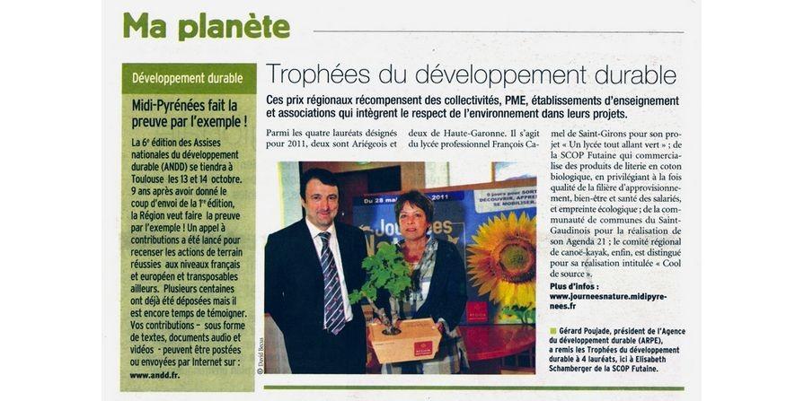 Futaine-Trophée du Développement Durable Futaine